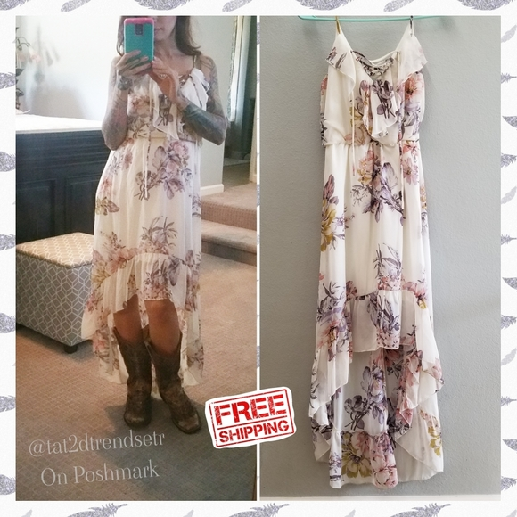 Bailey Blue High Low Floral Dress